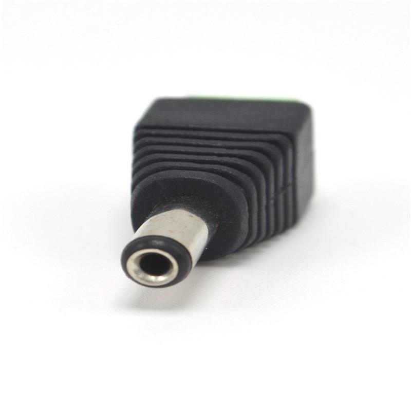 5,5 мм x 2,1 мм Женский штекер питания постоянного тока адаптер для 5050 3528 5060 одноцветная Светодиодная лента и камеры видеонаблюдения