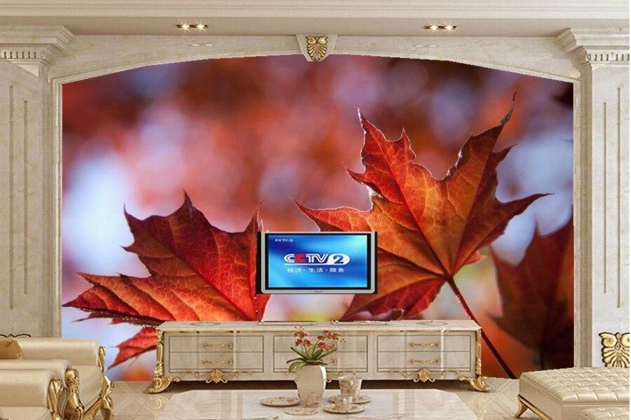 Custom 3d wall murals wallpaper,Closeup Foliage Maple Nature wallpapers,living room tv sofa wall bedroom papel de parede