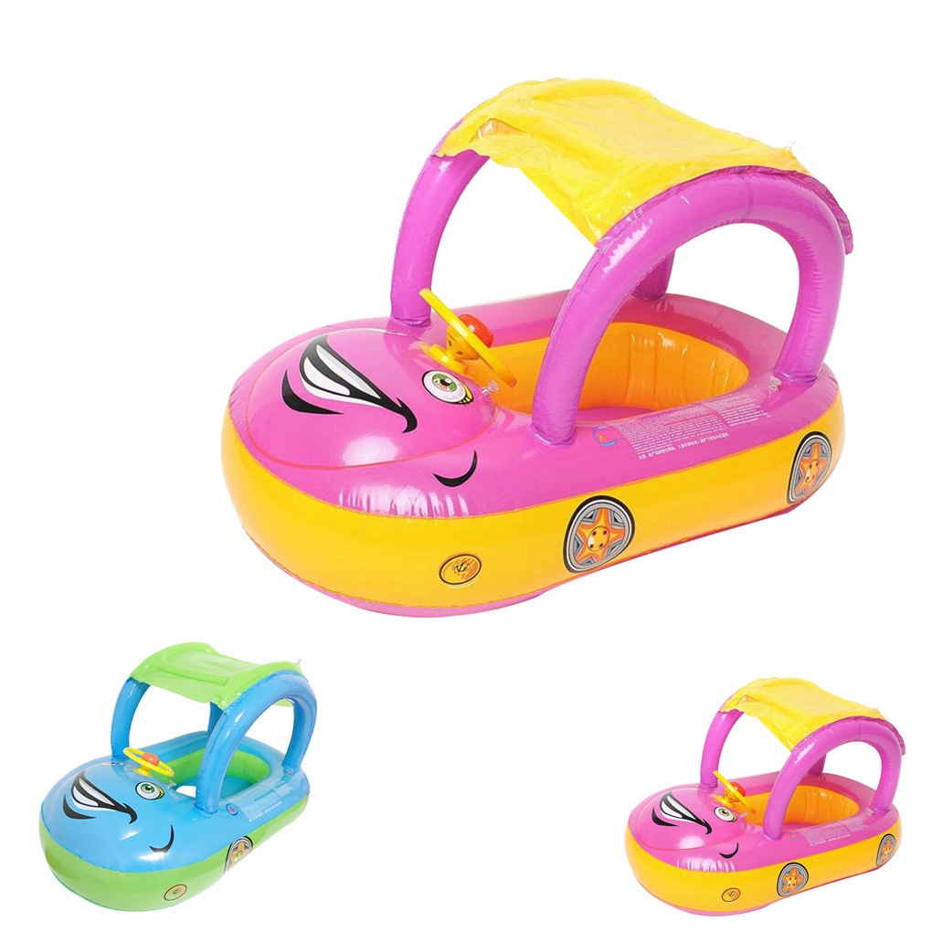 Baby Car Sunshade Inflatable Float Trainer Newborn Seat Boat Toddler Swimming Tube Ring Infant Swim Circle baby toys