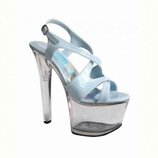 15 cm high heels Ultra slim with thick bottom crystal sandals Pictures show the shoes wholesale fashion women's sandals fashion candy color 15 cm high with the bottom of the ribs of crystal sandals lure fish mouth shoes on sale