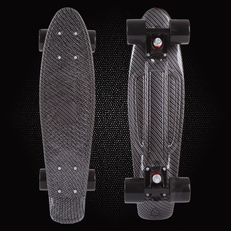 New MIni Cruiser High Quality Retro Black Skateboard Starry Sky Pattern Mini Board Long Board Wheels Fish Board Skateboard PN18