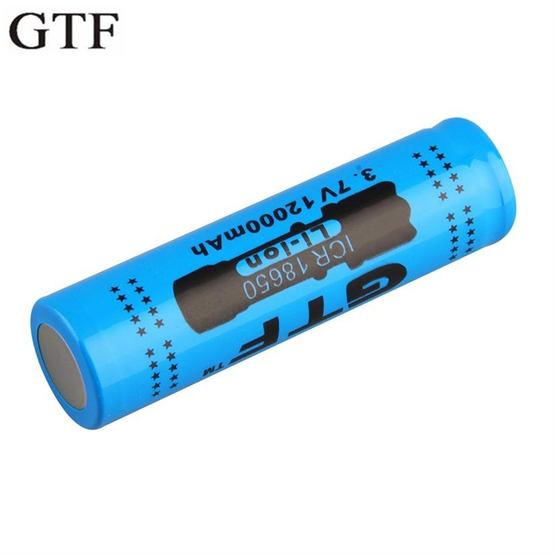 GTF 3.7V 12000mAh 18650 Rechargeable Li-ion Battery For LED Torch Flashlight Electronic Product 18650 Batteries Drop Shipping