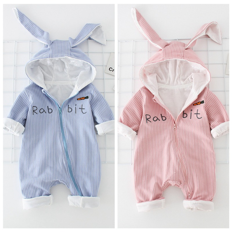 Boys' Baby Clothing Rompers Cute 3d Rabbit Baby Costume Kids Girls Romper Jumpsuit Outfits Hooded Clothes Autumn Winter