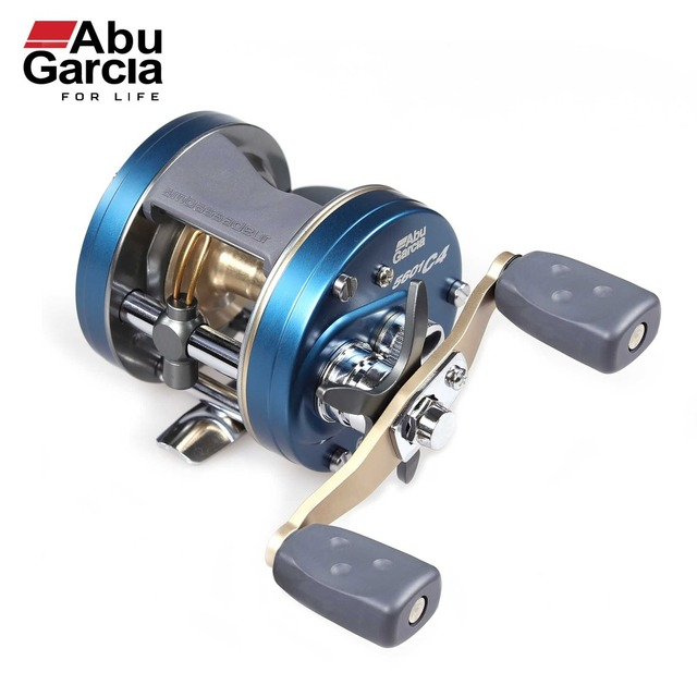 US $176 48 |Abu Garcia 100% Original Abu Garcia Reel C4 Casting ROUND REEL  Max Drag Power 6 3:1 Carretilha Baitcasting Reel Saltwater-in Fishing Reels