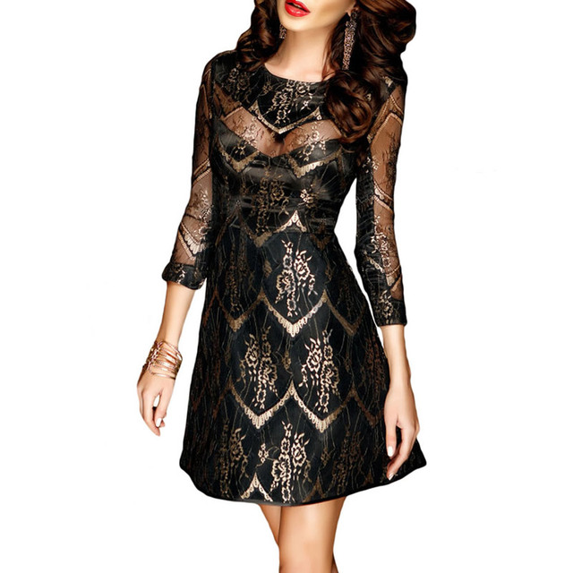 Black lace cocktail dress ukraine