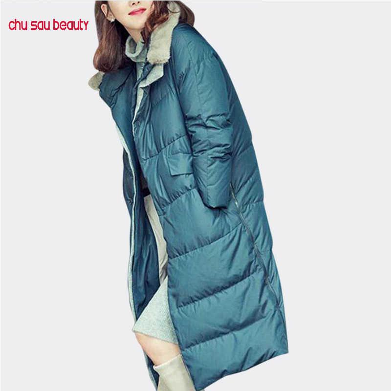 Femmes outwear pardessus chaud femmes parkas épaissir hiver vestes à capuche dames manteaux décontracté longue parka femme (pas de fourrure)