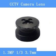 Infrared HD 1.3MP surveillance camera black button-shaped pinhole lens 3.7mm M12 thread CCTV lens