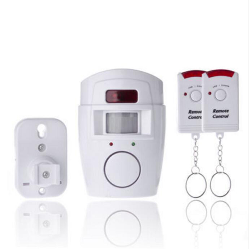 Wireless Home Security PIR MP Alert Infrared Sensor Anti-theft Independly Motion Detector Alarm Monitor +2 remote controller smart pir mp alert a9 anti theft monitor detector gsm alarm system for home
