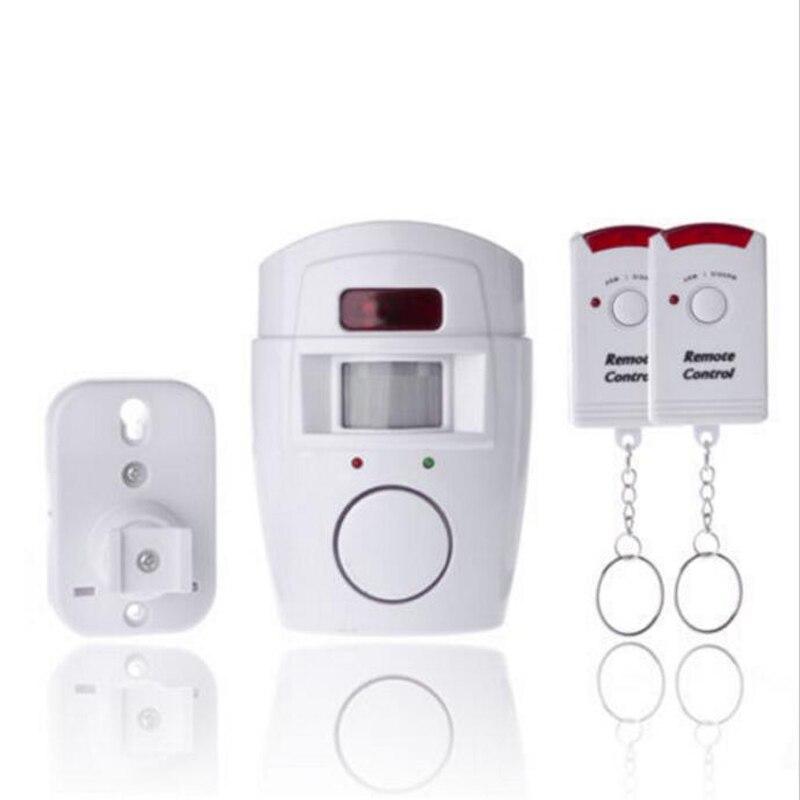 imágenes para Wireless home seguridad pir mp alerta sensor infrarrojo antirrobo independly motion detector de monitor de alarma + 2 mando a distancia