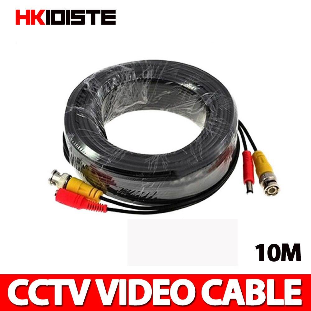 BNC Power Video CCTV Câble 10 m pour Analogique AHD CVI CCTV Caméra de Surveillance DVR Kit Accessoires