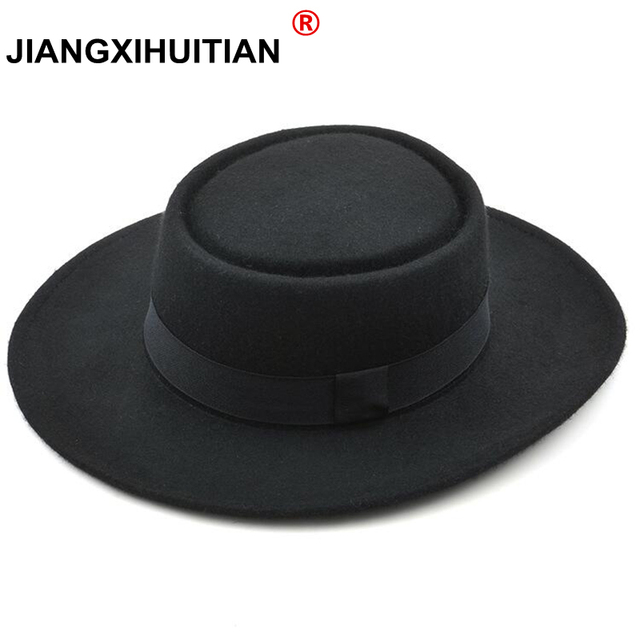 GD alta qualidade Novo 2017 Moda 100% Austrália Lã Chapéu Fedora dos homens  com Chapéu 8c6583ffdc0
