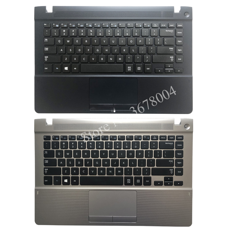 English Keyboard for Samsung NP470R4V NP370R4E NP370R4V NP450R4E NP450R4V NP470R4E Black US laptop palmrest cover