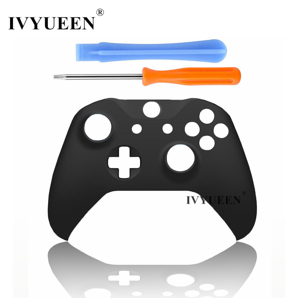 IVYUEEN Solid Front Top Up Shell Case Faceplate for Microsoft Xbox One X S Controller Housing Cover - Black / Gray / White full housing shell case kit replacement parts for xbox one wireless controller black
