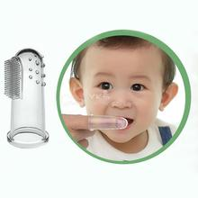 Baby Kid Soft Silicone Finger Toothbrush Gum Massager Brush Clean Teeth Hot Selling