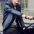Homens Jaqueta de Couro da motocicleta Moda Casual Sólida Vermelho Homens Jaqueta de Camurça de Couro 2016 Marca de Luxo-roupas Jaqueta de Motoqueiro 39