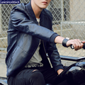 Motorcycle Leather Jacket Men Casual Fashion Solid Red Leather Jacket Men Suede 2016 Luxury Brand-clothing Jaqueta Motoqueiro 39