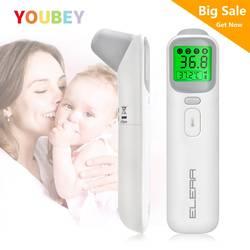YOUBEY Детский термометр Инфракрасный цифровой ЖК-дисплей измерение тела лоб ухо Бесконтактный взрослый высокая температура тела IR дети