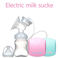 BPA Free Electric Breast Pumps Powerful Nipple Suction USB Breast Milk Collector with Baby Milk Bottle Cold Heat Pad Nipple