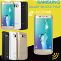 External 4200mAh Endurance Power Bank Pack Charger Backup Battery Case For Samsung galaxy S6 Edge Edge+ Plus with USB cable line