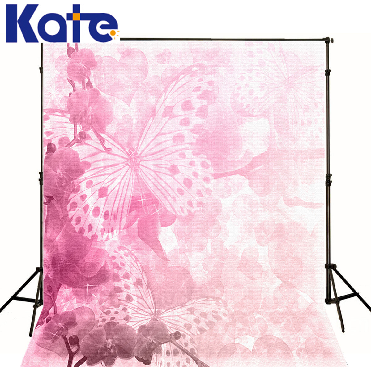 kate Photographic background Butterflies love pink No creases fabricbackdrops princess christmas 8 x 8 ft сумка kate spade new york wkru2816 kate spade hanna