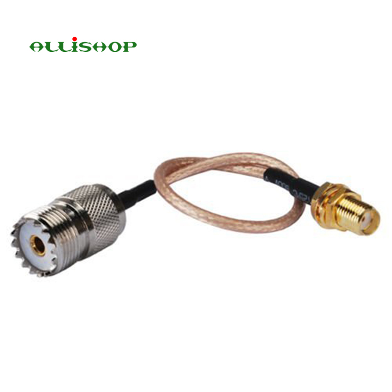 2 pcs SMA Female to UHF SO-239 Female Connectors 6'' for Wouxun Baofeng Quasheng Linton Adapter for UHF Base and Mobile Antennas oem 144 430 na 519 sma walkie talkie baofeng 3r wouxun kg uv6d 985 na 519