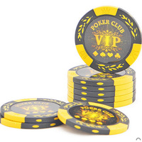 INSTOCK 20 PCS LOT Luxury Design VIP Poker Chips 14g Clay Iron ABS Chips Texas Hold