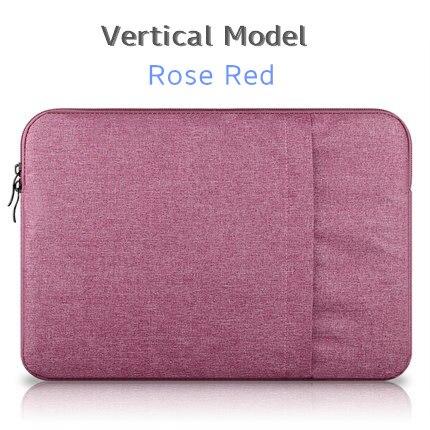 """Брендовый чехол aigreen для ноутбука 1"""", 13"""", 1"""", 15, 15,6 дюймов, сумка для Macbook Air Pro 13,3"""", 15,"""", Прямая поставка - Цвет: Vertical Rose Red"""
