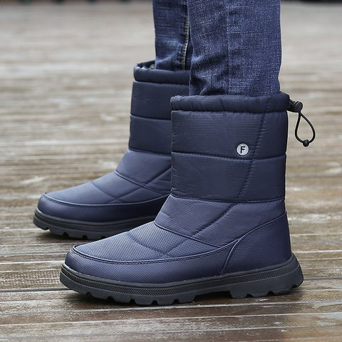 Christmas Men Shoes Winter Snow Boots Men Flat Safety Shoes Warm Military Boots Waterproof Rain Boots Antiskid Zapatos De Hombre Islamabad