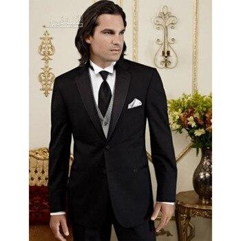New New Real Flat Wool Custom Made Groom Tuxedos Best Man Suit Wedding Groomsman Men Suits Bridegroom Suits(jacket+pants+vest)