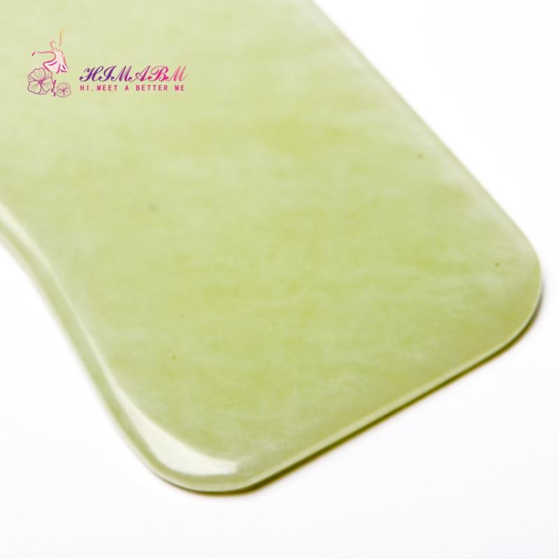 2 Pcs natural light green jade Guasha board massage tool facial treatment scraping tool for body massage health care