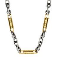 HIP Hop Mới Đến 55 CM 5.5 MÉT Chain Byzantine Necklaces Vàng Bạc Màu Thép Không Gỉ Rock Chain Vòng Cổ cho người đàn ông Trang Sức