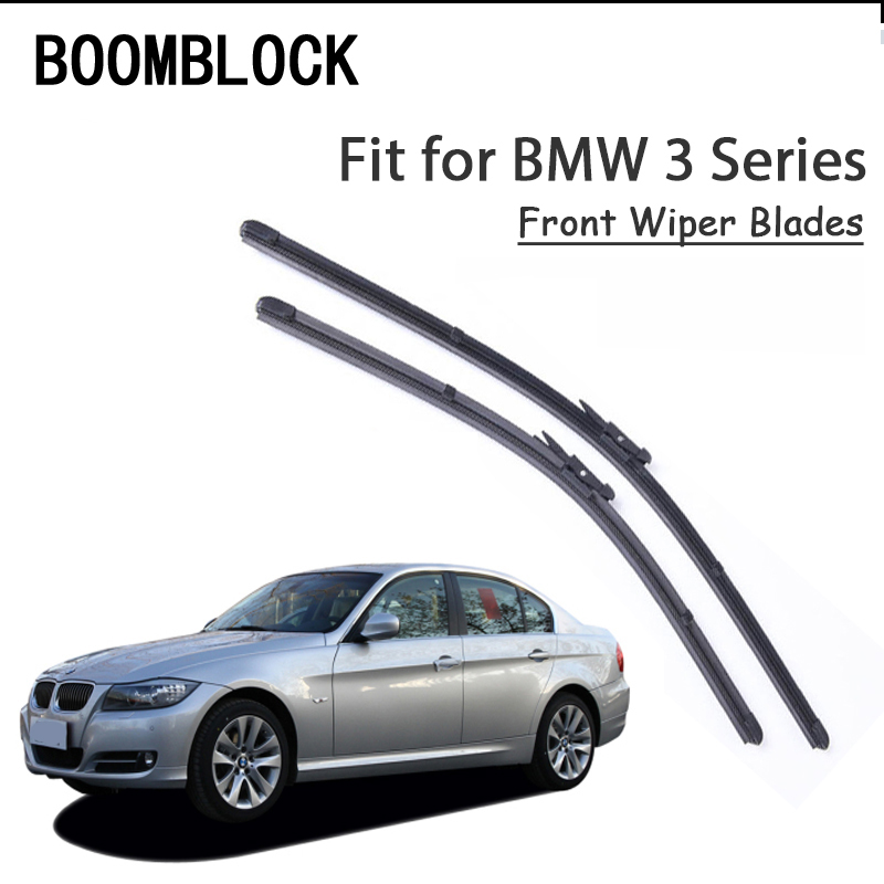 BOOMBLOCK 2PCS High Quality Front <font><b>Windshield</b></font> <font><b>Wiper</b></font> Blades For 3-Series <font><b>BMW</b></font> E90 <font><b>F30</b></font> E46 E91 E92 E36 E93 F31 Accessories image