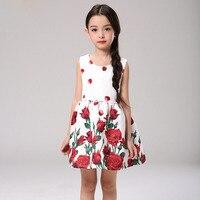 2 7T Flower Girl Dress Summer Dress 2016 Girl Dress New Fashion Party Princess Dress Girls