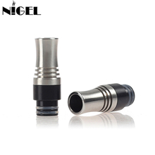 цена 1PCS Long 510 Drip Tip With 9 Holes For Atomizer Drip Tip Mouthpiece For RDA/RDTA Tank Vape Electronic Cigarette Accessories