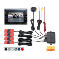 4 Sensors New Visible Dual Core CPU Car Video Parking Sensor Reverse Backup Radar Alarm System