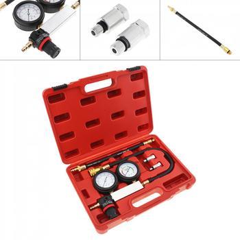Universal 0~100 PSI / 0~7 Bar Car Replaceable Cylinder Leak-Down Engine Compression Tester Gauges Kit