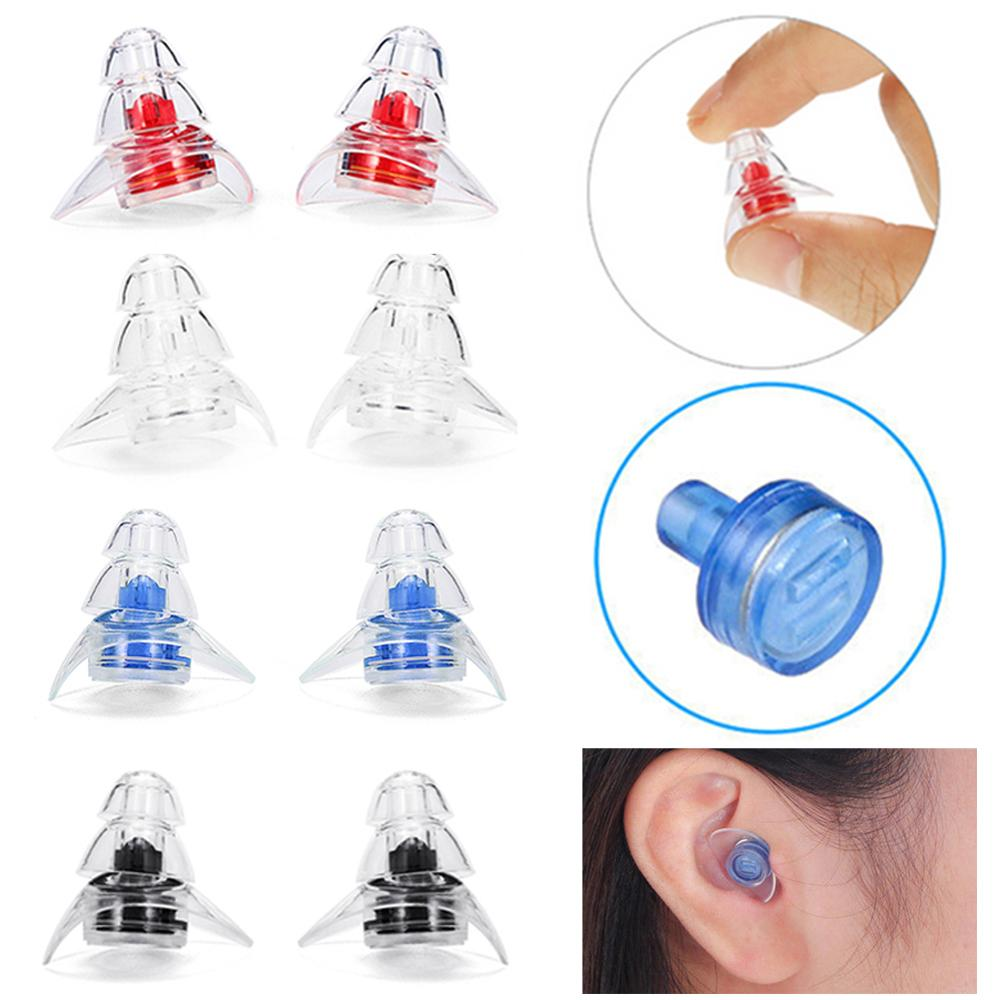 Soft Silicone Ear Plugs 1 Pair Ear Protection Reusable Professional Music Earplugs Noise Reduction For Sleep DJ Bar Bands Sport