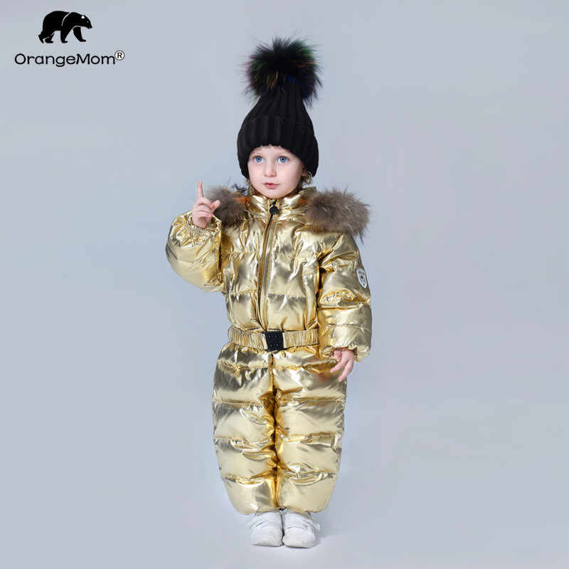 До-35 градусов Orangemom 2018 детская одежда ветровка детский зимний  комбинезон пуховик пальто для девочек 40a7acb759b