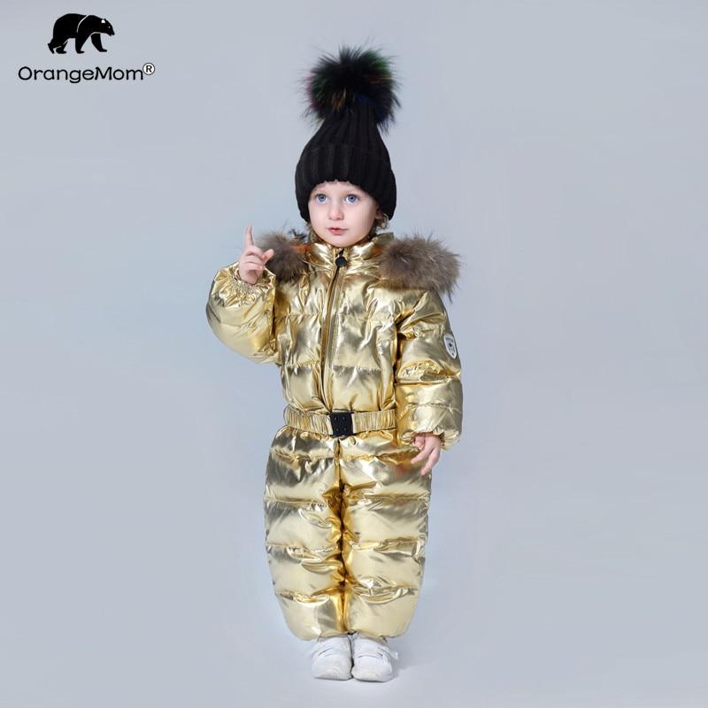 -35 degrés Orangemom 2019 vêtements pour enfants coupe-vent bébé enfants combinaison d'hiver doudoune manteau pour fille garçons vêtements