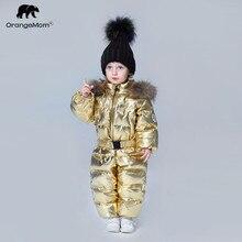 До-35 градусов Orangemom 2018 детская одежда ветровка детский зимний комбинезон пуховик пальто для девочек мальчиков одежда
