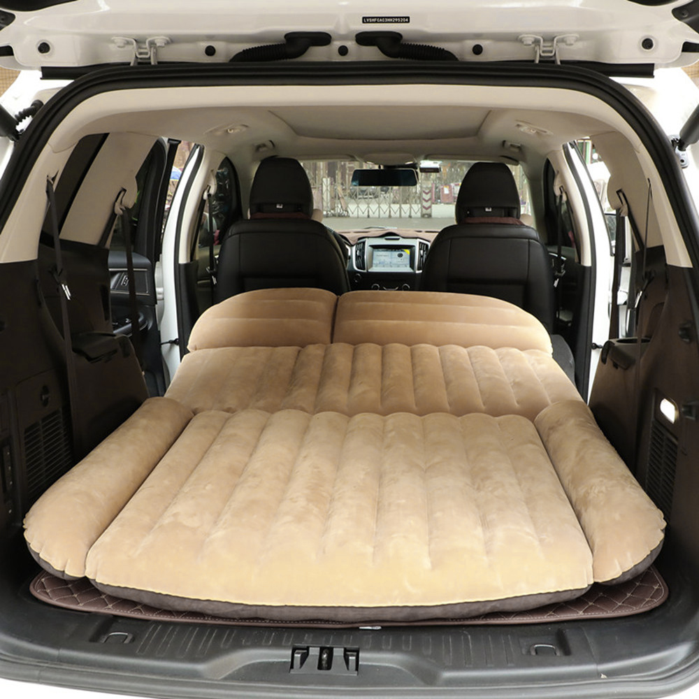 Car SUV Inflatable Airbed for Traveling Camping Beach Universal Auto Inflator Bed PVC Double sides usable Seat Covers Rest Sleep