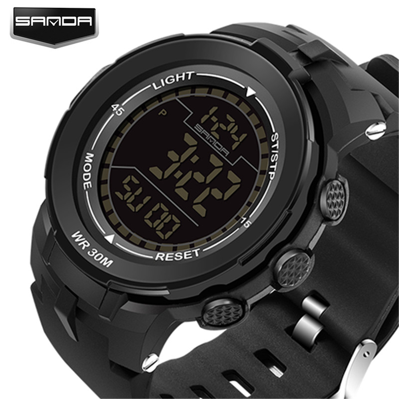 2018 Neue Marke Sanda Uhr Männer Military Sportuhren Fashion Silikon Wasserdichte Led Digital Uhr Für Männer Uhr Reloj Hombre Herrenuhren