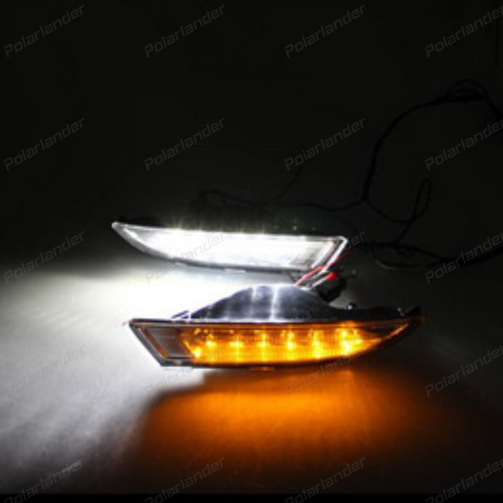 1 pair Daytime Running Lights car-styling LED Fog Light for V/W R S/cirocco LED DRL 2009-2013 Front Lamp Auto Accessory