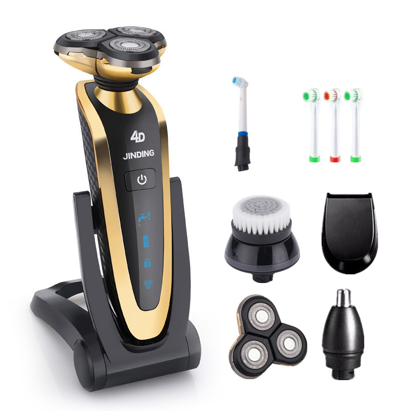 4D Shaver Electric Shaver for Men Rechargeable Electric Razor Waterproof Wet Dry Face Beard Shaving Machine 3 Colors 100-240v 3 blade led display electric shaver razor for men rechargeable face shaving machine waterproof beard shaver cord