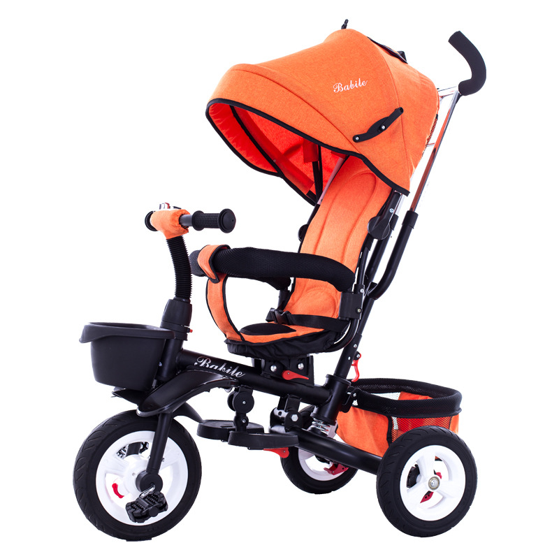 4 In 1 Foldable Children Tricycle Bike Baby Carriage Trolley Baby Stroller Pram Pushchair 3 Wheels Folding Baby Buggies 10M~6Y portable baby toddle child tricycle bike trolley umbrella stroller pushchair pram buggy bicycle 6 m 5 y brand quality