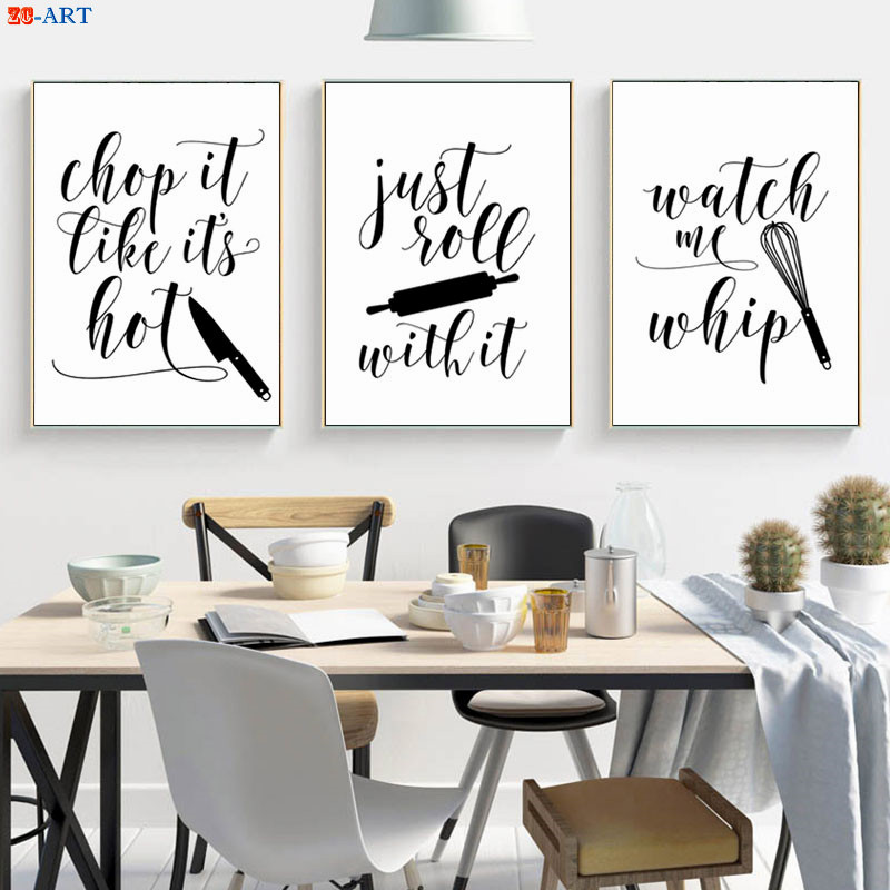 Us 368 38 Offfunny Quotes Posters And Prints Modern Wall Art Minimalist Canvas Painting Kitchen Art Wall Decor Unframed Decoration Pictures In