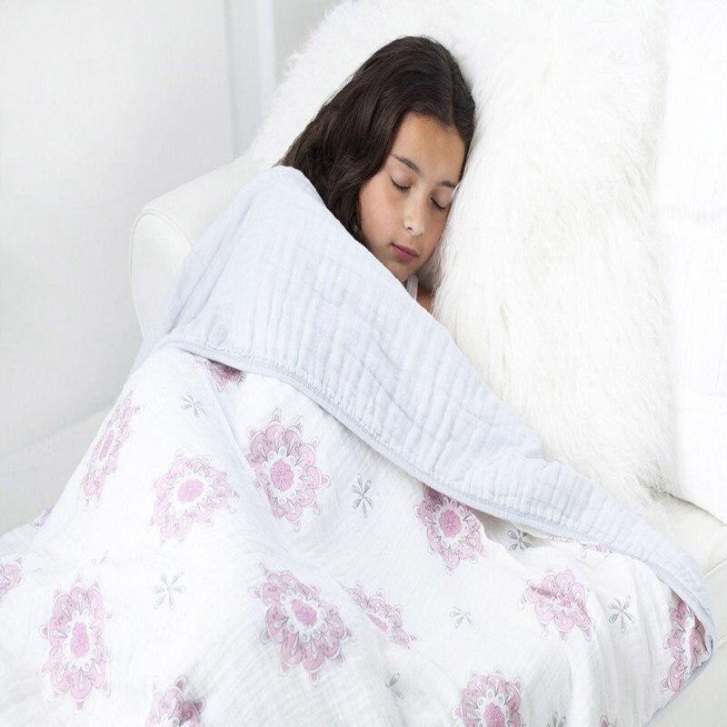 Nyfødte Baby Multifunktionelle 8 Læg til Nyfødte Modtagne Tæpper Sengetøj Spædbarn Bomuld Swaddle Håndklæde Muslin Baby Tæppe