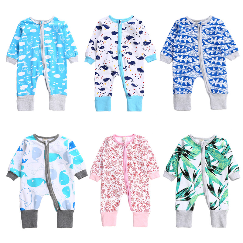 2017 utumn kids long sleeve rompers fashion kids casual clothes childrens printed cotton jumpers cute infant overalls 17S907