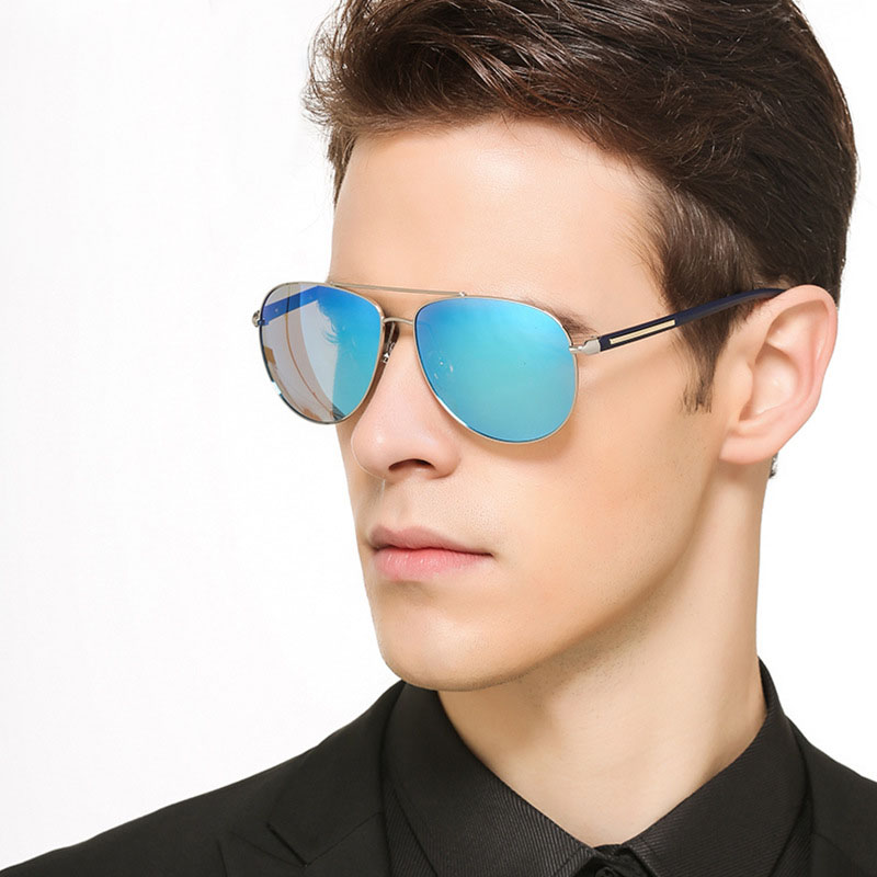 JIE B Men Women Pilot Sunglasses Brand Designer Polariz Mirror Lens Sun glasses Vintage Glasses font