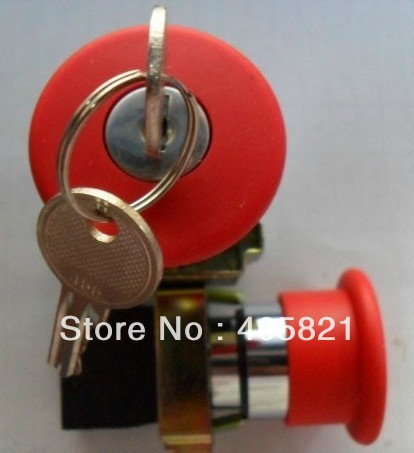 Red Emergency Stop Mushroom Push Button Switch Key Released 1N/C XB2BS142C Mushroomhead dia 40MM